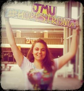 Spreading Melissa's #hopestrong movement through the JMU campus!