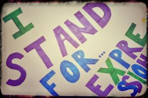 I stand for expression